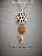 bijoux sautoir couleur or modele unique chic original : Collier gamme minérale n°10