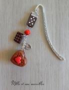 bijoux marque page chocolat idee cadeau noel bijoux de livre petit prix : Marque page Fimo tout chocolat