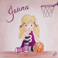 tableau enfant basketball