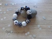 Bracelets FIMO noir et blanc