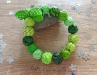 Bracelet FIMO dégradé de vert