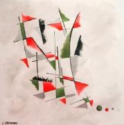 tableau abstrait tableau abstrait ver formes geometriques courbes moderne : PREAMBULES