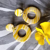 Boucles d'oreilles jaunes été