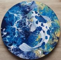 Tableau poisson voile de chine