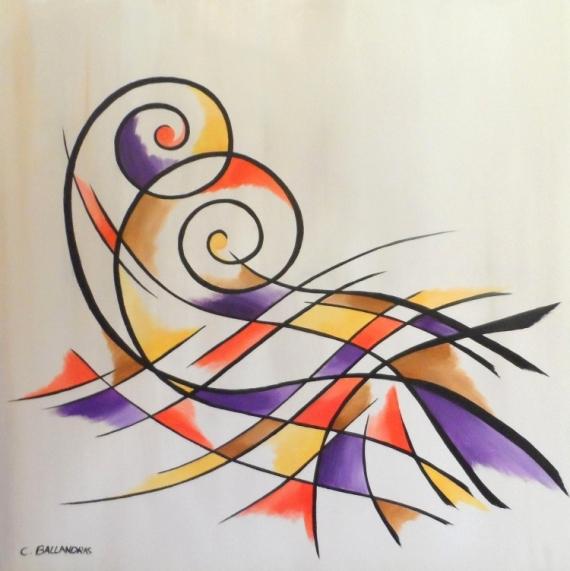 TABLEAU PEINTURE arabesque multicolore contemporain Abstrait Acrylique  - HYPNOSE