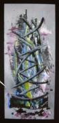 tableau abstrait : Exode