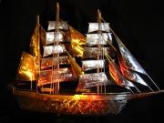 sculpture : voilier trois mat