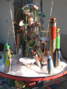sculpture : fontaine  . hommage aux peintres