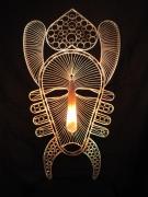 sculpture abstrait : masque Africain