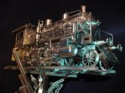 sculpture train inox artmetal al : Train inox monumental