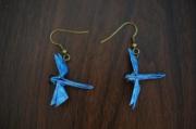bijoux animaux boucles d oreil origami bijoux : Libellule
