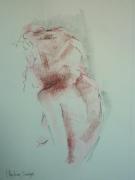 dessin nus : Cécile,buste