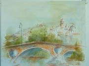 tableau villes toulouse garonne pont neuf : de la Prairie des Filtres
