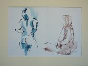 dessin nus nu : Roselyne, dyptique
