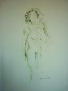 dessin nus nu : Cécile