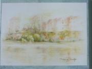 dessin villes toulouse quais garonne : Garonne, jaune oranger