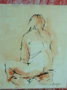 tableau nus : Assise