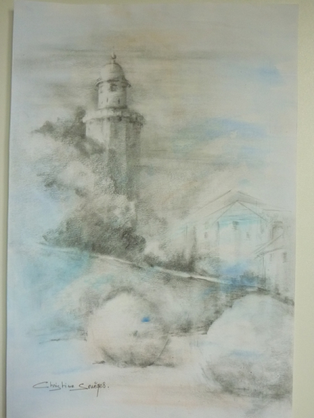 DESSIN toulouse château d'eau Architecture Crayon  - Toulouse, le château d'eau