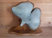 sculpture fleurs feuille longevite exotique asie : Ginko