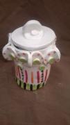 ceramique verre autres art brut art singulier harold dupre : pot a sel pot a sucre en céramique