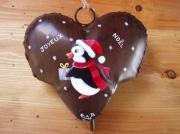 "artisanat dart autres noel decoration coeur cloche : Pingouin ""Joyeux Noël"""