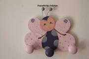 bois marqueterie animaux papillon portemanteaux enfantsbebe : Papillon porte-manteaux