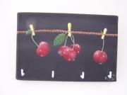 deco design fruits toile accrochestorchons portesclefs decoration : Les Cerises