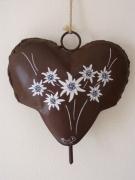 artisanat dart fleurs edelweiss montagne metal cloche : Edelweiss