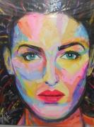 tableau personnages visage femme peinture artpop : Going Further