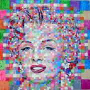 tableau personnages maylin popart paris : MM Pixelized