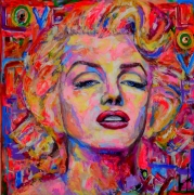 tableau personnages marylin streetart jyrendo : Marylin Be Borderline
