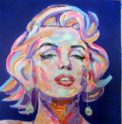 tableau personnages marylin popart artpop paris : Marylin Vibrating