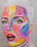 tableau personnages portrait femme artpop popart : Surprise!