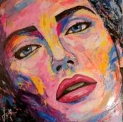 tableau personnages artpop visage popart : Respire I