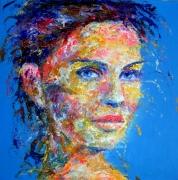 tableau personnages artpop popart portrait : Feelings beyond the skin