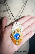 bijoux collier fimo : sculpture sur fimo