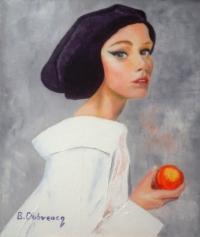 la jeune fille à la pomme