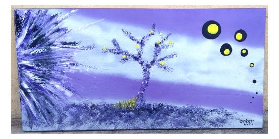 TABLEAU PEINTURE paysage illusion Peinture a l'huile  - Big Bang
