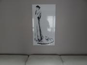 """art numerique personnages noir et blanc silhouette sexy design : Mademoiselle """"la mariée"""""""