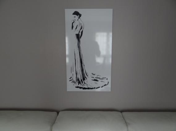 """ART NUMéRIQUE noir et blanc silhouette sexy design Personnages  - Mademoiselle """"la mariée"""""""