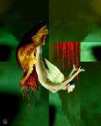 tableau abstrait art contemporain abstrait figuratif surreralisme tableau : Métamorphose