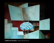 tableau abstrait memoire esprit escalier pensee : L'esprit de l'escalier