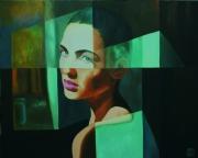 tableau abstrait lumiere expression visage femme : Le reproche