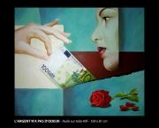tableau abstrait l argent l odeur beaute fleur : L'argent n'a pas d'odeur