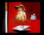 tableau abstrait art contemporain abstrait figuratif surrealisme annecy : La fin des poupées