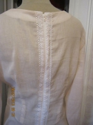 art textile mode autres tunique dentelle beige cotoncrepon : tunique/dentelle