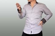 art textile mode abstrait chemise chocolat pois homme : chemise à pois
