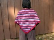 art textile mode chale crochet cadeau chaud : Châle coloré