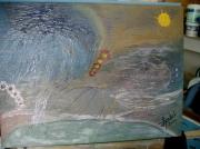 tableau abstrait abstrait cote orage cote beau temps : abstrait