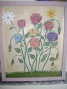 tableau fleurs bouquet fleurs roses : bouquet de fleurs